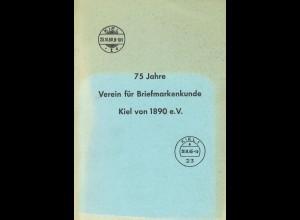 75 Jahre Verein für Briefmarkenkunde Kiel von 1890 e.V. und Ausstellung 1967