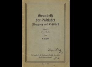 AEROPHILATELIE: K. Schütt, Grundriß der Luftfahrt. Flugzeug und Luftschiff, 1935
