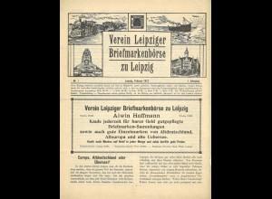 Berichte des Vereins Leipziger Briefmarkenbörse zu Leipzig, Nr. 1 - Nr. 18/19.