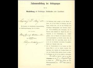 Vertragsbedingungen für einen Magdeburger Briefträger von 1892.
