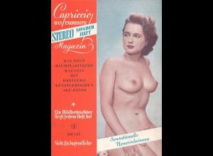 Zehn verschiedene Hefte mit Aktfotografien, 1950er Jahre.