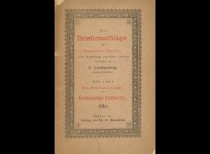 Die Briefumschläge der deutschen Staaten, Heft 5 und 6, Berlin 1893.