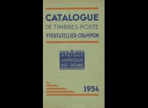 YVERT: Catalogue de Timbres-Poste, III, Afrique, Amérique, Asie-Océanie 1954.