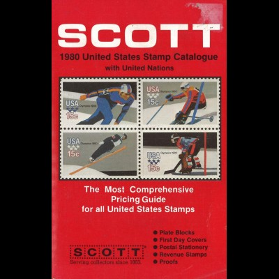 SCOTT: 1980 United States Stamp Catalogue with United Nations, New York 1979.