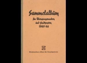 Sammelalbum für Übergangsmarken und Stadtposten 1945/46.