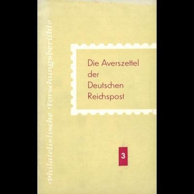 Beckstädt, Alfred, Die Averszettel der Deutschen Reichspost, Berlin: Transpress 1963.