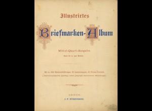 Briefmarkenalbum und Preisliste, Ende 19. Jahrhundert