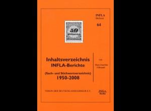 Filbrandt, Hans-Joachim, Inhaltsverzeichnis INFLA-Berichte, Berlin 2010.