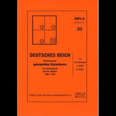 Deutsches Reich: Bewertung des gebrauchten Viererblocks, Berlin 1994.