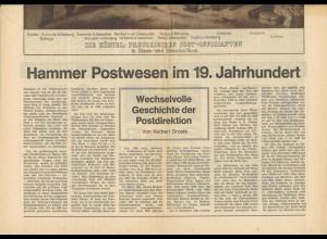 Postgeschichte Hamm / 150 Jahre Westfälischer Anzeiger