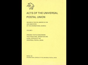 Acts of the Universal Postal Union, Vol. 1 + 2, 1980/81.