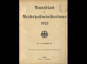 Amtsblatt des Reichspostministeriums 1923