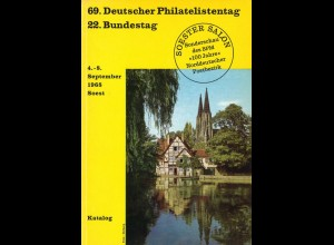 Soester Salon: 69. Deutscher Philatelistentag, 22. Bundestag, Soest 1968.