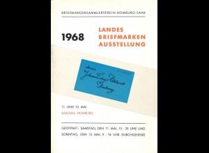 Briefmarken-Ausstellungen in Homburg/Saar 1968 und Bad Nauheim 1968.