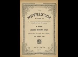 Das Postwertzeichen, 2. Jg., Hannover: Larisch 1889.