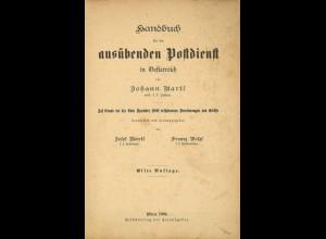 Handbuch für den ausübenden Postdienst in Oesterreich, Wien 1904, 11. A.