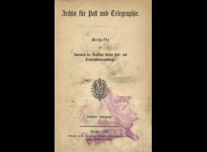 Archiv für Post und Telegraphie, 6. Jg., Berlin 1878
