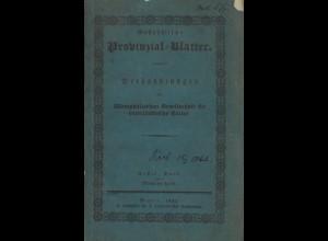Westphälische Provinzial-Blätter. Erster Band, viertes Heft, Minden 1831.