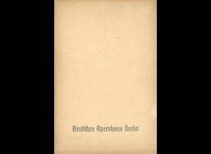 Programmhefte: Deutsches Opernhaus Berlin 1938 / Volksoper Berlin 1941