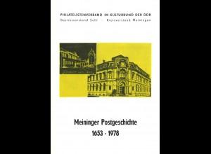 Meininger Postgeschichte 1653 - 1978