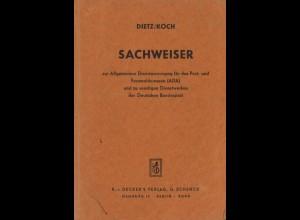 Dietz / Koch, Sachweiser zur Allgemeinen Dienstanweisung