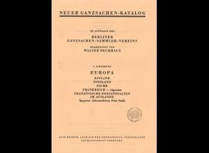 Neuer Ganzsachen-Katalog, 7. Lieferung, Berlin 1967.