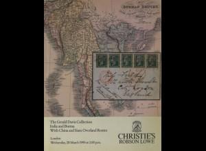 INDIEN UND CEYLON: Vier Kataloge von Christie's Robson Lowe, London 1990/94/95.