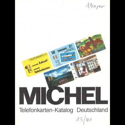 MICHEL: Telefonkarten-Katalog Deutschland, München 1990