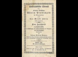 Vaterländische Chronik der Königlich-Preußischen Rhein-Provinzen, Köln 1825.