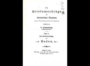 BADEN: Lindenberg, C., Die Briefumschläge der deutschen Staaten, Heft 8, 1894