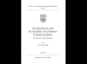 Büchel, K.H., Das Botenwesen und die Geschichte der Postämter in Beuel am Rhein