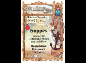 Suppes 90/91. Katalog für historische Aktien und Anleihen.
