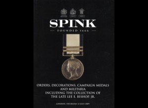 Orders, Decorations, Campaign Medals and Militaria, London: Spink 2009.