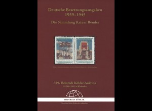 DEUTSCHES REICH: Die Sammlung Rainer Bender, Wiesbaden 2012.