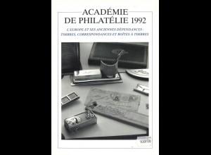FRANKREICH: Académie de Philatélie 1992.