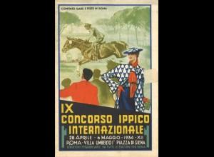 IX Concorso Ippico Internatzionale, Rom 1934 und Medaille.