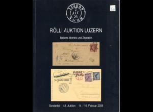 AEROPHILATELIE: Ballon Montés und Zeppelin, Rölli Auktion Luzern 2008.