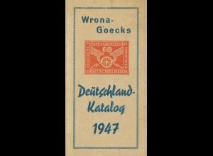 Wrona Kataloge 1934/35 und 1947.
