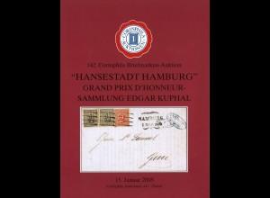 """142. Corinphila Briefmarken-Auktion """"Hansestadt Hamburg"""", Zürich 2005"""