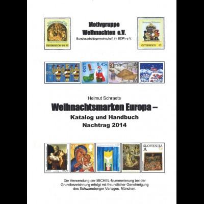Schraets, Helmut, Weihnachtsmarken und Absenderfreistempel, Nachtrag 2014.