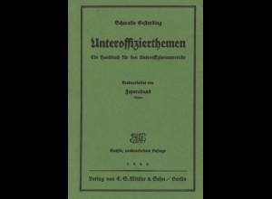 Gesterding, Schwatlo, Unteroffizierthemen, Berlin 1940, 6. neubearb. A.