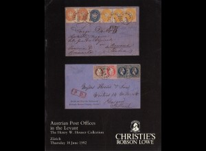 ÖSTERREICH/AUSTRIA: Robson Lowe/Christies: The H. W. Hauser Coll. (18.6.92)