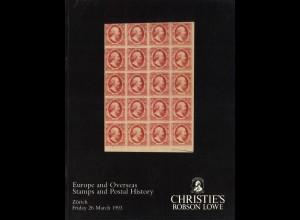 EUROPA/Übersee: Robson Lowe/Christies: Konvolut von 31 Auktionskatalogen