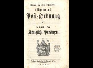 Preußische Postordnung von 1782 (Original!)