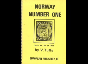 NORWEGEN: V. Tuffs: Norway Number One. The 4 Sk. Lion of 1855