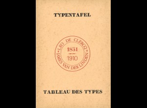 BELGIEN: de Clercq/v.d. Linden: Cachets a date Belges 1831–1910