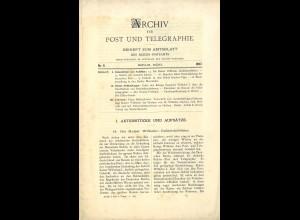 ARCHIV für Post und Telegraphie. Beiheft zum Amtsblatt, Nr. 6/1897