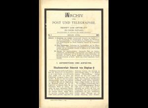 ARCHIV für Post und Telegraphie. Beiheft zum Amtsblatt, Nr. 7/1897
