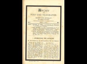 ARCHIV für Post und Telegraphie. Beiheft zum Amtsblatt, Nr. 8/1897