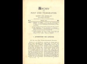 ARCHIV für Post und Telegraphie. Beiheft zum Amtsblatt, Nr. 9/1897